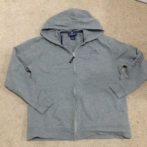 VINEYARD VINES GRAY ZIP UP